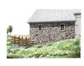"Stone Barn Watercolor Pen and Ink Original Architectural Art Home Wall Decor Pennsylvania 10"" x 7"" sfa"