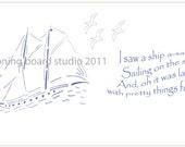 Decal border print sailing verses