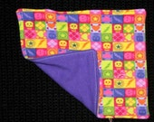 Neon Skulls - Cloth Wipes / Napkins - Set of 5 - Double Flannel