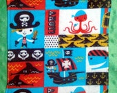 Ahoy Matey - Cloth Wipes / Napkins - Set of 5 - Double Flannel