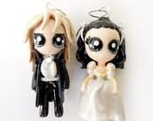 Jareth and Sarah - Miniature Sculptures - Charm Pendants