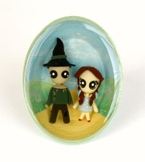 SALE - Follow the yellow brick road... - Miniature Sculptures - Bubble Ring