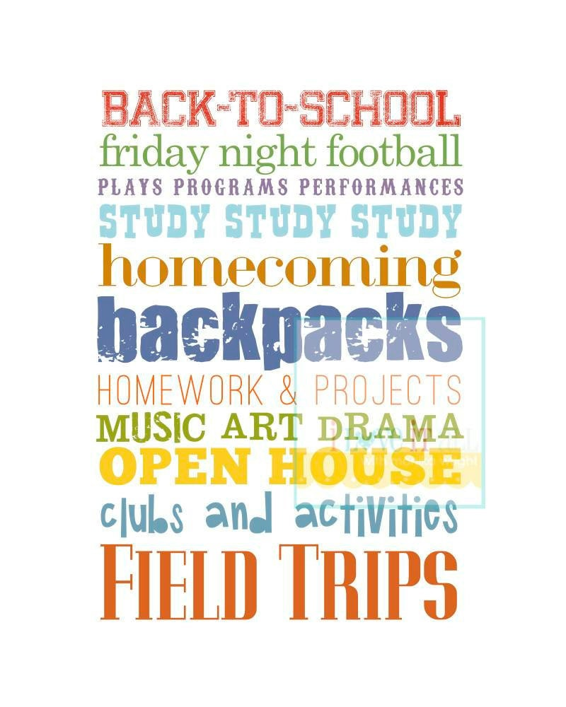 Student back to school subway art poster print wall by for Back to school wall decoration