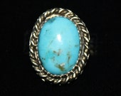 Big and Beautiful Handcrafted Sterling Silver Turquoise Ring