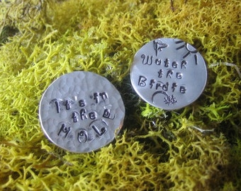 Golf Ball Markers - Set of Two - Your Choice of Quotes - Aluminum Discs - Golf Accessory - Fun Golfer Gift - Gifts for Golfers - Golf Lover