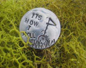 Golf Ball Marker - Hand Stamped - It's How I Roll - Aluminum Discs - Golfers Gift - Tournament Favor - Golf Outing Gift - Fun Golfer Gift