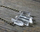 Frozen Falls Song- Graduated Quartz Pendant Necklace