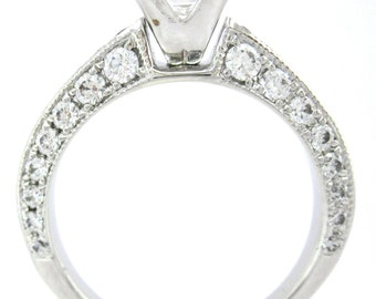 Princess cut diamond engagement ring 2.00ctw