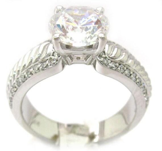 Round cut diamond engagement ring 2.40ctw