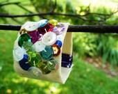 tasty rainbow canvas sequin cuff