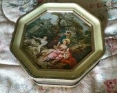 Vintage French Style Biscuit Tin