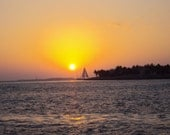 Sailing alone in Key West sunset