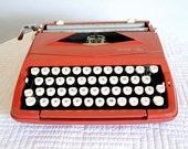 Vintage Red Typewriter by Sears