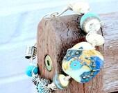 Bella Blue DSG Signature Focal Bead Wire Wrapped Bracelet - on sale