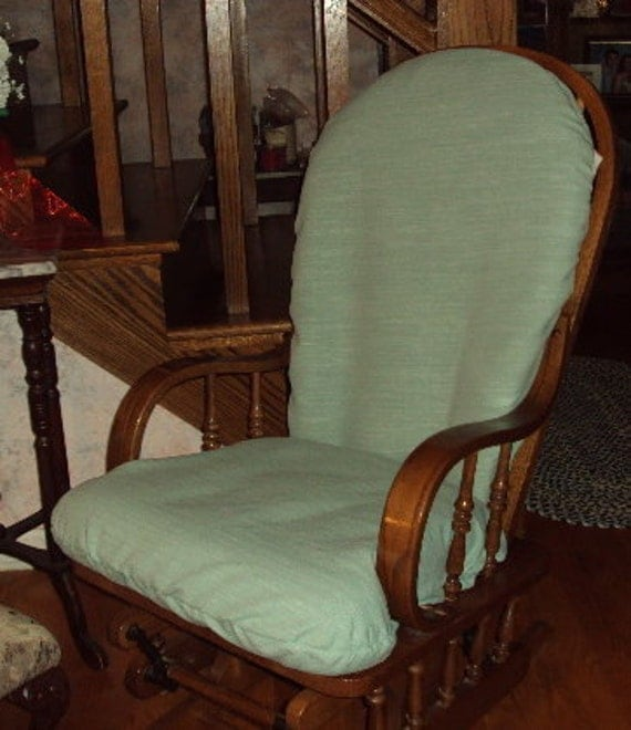 FRee SHIppING in USA,  REduced INTL SHIppING - Nursery Glider Rocker SlipCovers for your cushions - Beautiful Textured Green
