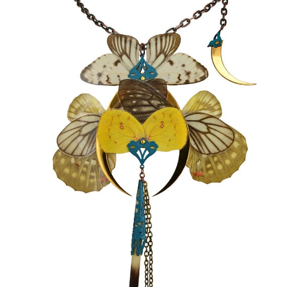 OBERON / Gold Butterfly Necklace