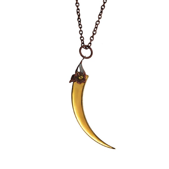ROSE THORN / Gold Pendant / Free Shipping