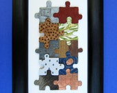 Multi-Textured Collage Puzzle Sculpture