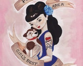 Puppies Are A Girl's Best Friend Print 8x10