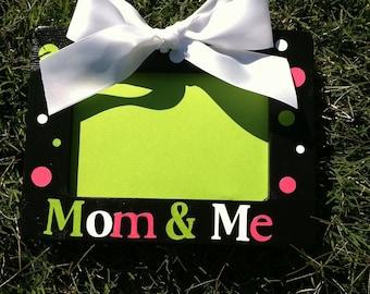 Mom & Me Polka Dot Picture Frame
