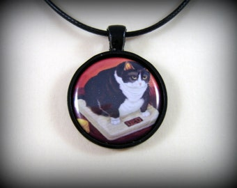 """Cat Necklace, """"Moment of truth"""""""