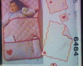 McCall's 6484 pattern baby accessories  1979