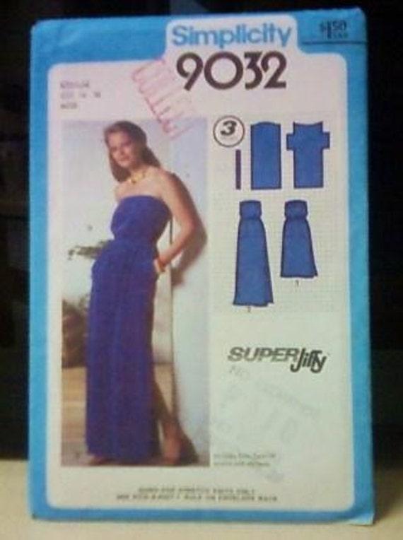 Vintage Simplicity 9032 pattern dress (1979)