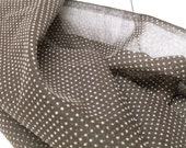 Sheer Cocoa Swiss Dot Fabric