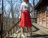 Candy Apple Red Pleated Skirt