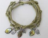 Leaf Wrap Charm Bracelet
