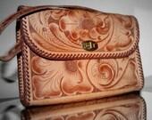 Vintage Tooled Leather Purse- ON SALE