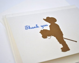 Cowboy Thank you Cards