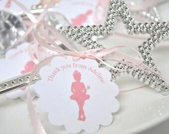 Ballerina Princess Gift Bag Tags