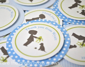 Frogs Snails and Puppy Dog Tails Goody Bag Tags