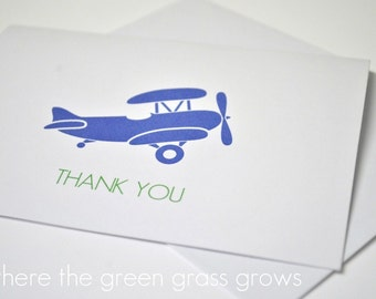 Airplane Thank you Cards - READY TO SHIP