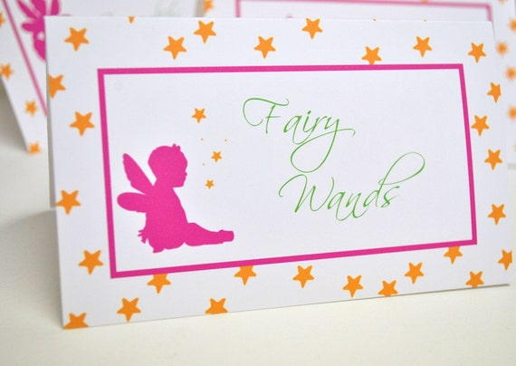 Fairy Table Food Signs