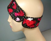Valentine Quilted Cotton Headband in Red, Pink and Black