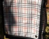 Custom Listing for Slipstreamblue - M Bag with Customer Provided Regretsy Dingleberry Plaid Spoonflower Fabric