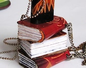 Memories of India...  tiny leather journal book for a necklace
