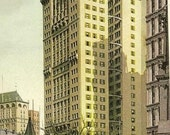 Vintage Postcard NEW YORK - Park Row Building New York 1911 Ontario Cancels