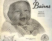 Baby Knitting and Crochet Pattern Book 1960s Beehive for Bairns - great vintage patterns