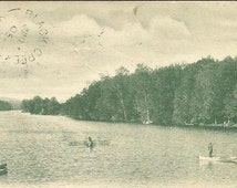 Vintage Postcard Spring Regatta Lake Whitney New Haven Conn 1905 UDB with closed post office cancel