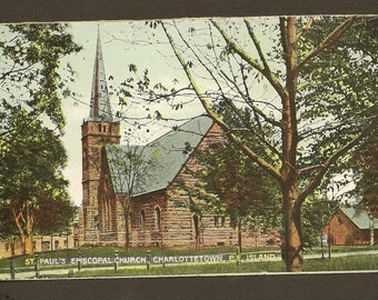 Vintage Postcard CHARLOTTETOWN PEI - St. Pauls Episcopal Church, Unused