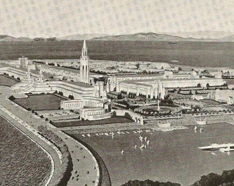 Golden Gate International Exposition Island Site 1939 - Unused Vintage Postcard