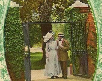 Gates of Paradise with BURTCH Ontario (closed Post Office) cancel Jan 1912 on Romantic Bamforth Vintage Postcard