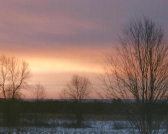 Landscape Photography Colourful Sunrise on a Winter morning on Blank Note Card All Occasion Note Card ~ Sernity ~ Perfect All Occasion Card