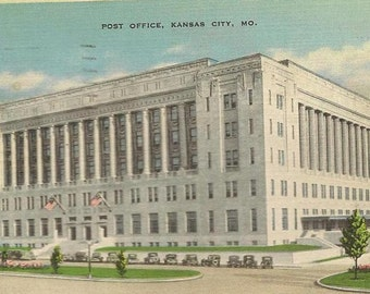 New Post Office Kansas City Missouri 1939 Hallmark Cards vintage postcard