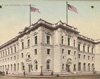 Post Office SAN FRANCISCO California unused Edward Mitchell vintage postcard