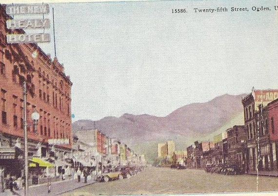 OGDEN Utah Twenty-Fifth Street - Unused vintage postcard