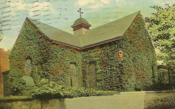 Old St Pauls Church NORFOLK Virginia 1911 Vintage Postcard Historic Site